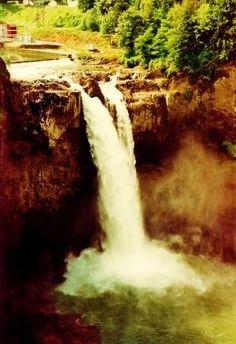 A Waterfall In Downtown Seattle Washington