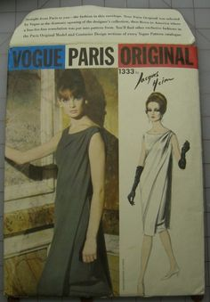 Vogue Paris Original 1333 Jacques Heim Uncut Factory Folds Size 12 sold 9/1/13 for 44+3
