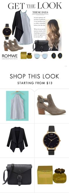 """Romwe"" by erinparkerofficial ❤ liked on Polyvore featuring Sole Society, Olivia Burton, Sarah Jessica Parker and Ray-Ban"