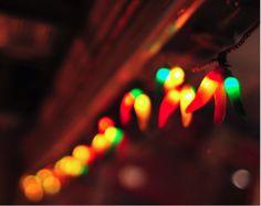 chili pepper shaped Christmas lights (childhood favorite)