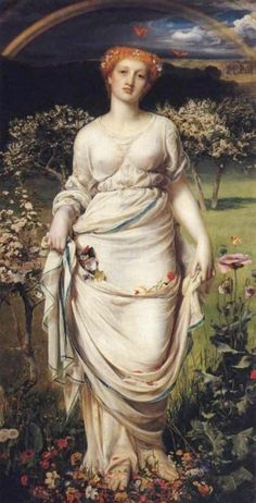 "Anthony Frederick Sandys    ""Gentle Spring"""