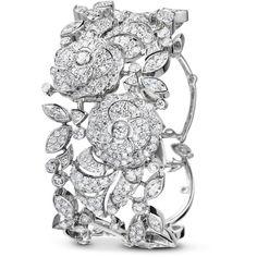 Camélia bracelet Camélia bouquet bracelet in 18K white gold and... ❤ liked on Polyvore featuring jewelry, bracelets, white gold jewellery, 18k bangle, 18 karat gold jewelry, 18 karat gold bangles and white gold diamond bangle