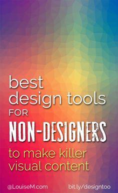 Design Tools for Non-Designers to Make Killer Visual Content - business marketing design Diy Design, Graphic Design Tools, Tool Design, Business Branding, Business Marketing, Social Media Marketing, Content Marketing, Facebook Marketing, Marketing Quotes