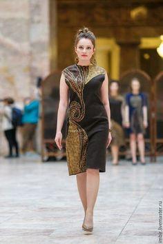 Платья ручной работы. Ярмарка Мастеров - ручная работа. Купить Платье Артефакт 5. Handmade. Коричневый, Мокрое валяние, шерсть
