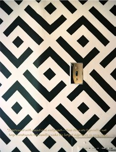 painted geometic wall