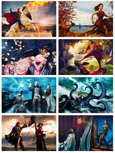 Not sure who these Disney paintings are by, but they're awesome.