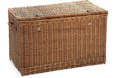 Large French Wicker Trunk on OneKingsLane.com. We inherited one just like this. Now....how to clean it and then to paint or not to paint?