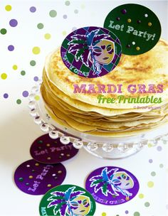 FREE Party Printables: Mardi Gras Party Tags!