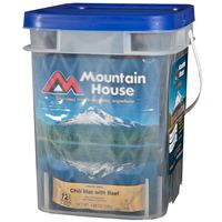 Mountain House - Just In Case... Essential Assortment BucketLPC Survival reg $70 sale $65 - 4 pouches each - chik rice, chili mac, spag w/meat sauce - 2.5 svgs each pouch, 32 svgs total