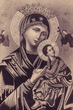 The most holy and venerated icon of Our Lady of Perpetual Help.