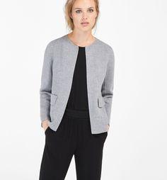 Massimo Dutti 女装 灰色短外套 06415533803-tmall.com天猫