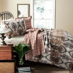 3-Piece Norah Quilt Set in Gold