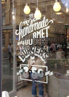Window Illustration for Ninety Nine on Typography Served