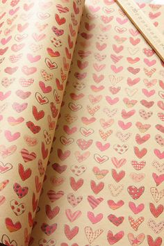 Cute wrapping paper for a wedding or Valentine