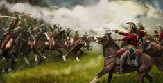 Cavalry charge, Tim Catherall on ArtStation at https://www.artstation.com/artwork/AxYJN