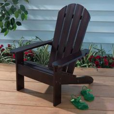 [Ad] Based on the classic Adirondack style of furniture established in the  mountains of upstate NY in the 1870's, the KidKraft Adirondack Chair is  the perfect piece for lazy days in the sun with your little one. The  sturdy all wood construction and choice of colors makes this a popular  item among kids and parents alike.