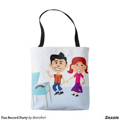 Fun Record Party Tote Bag