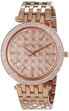 Women's Wrist Watches - Michael Kors Womens Darci Rose GoldTone Watch MK3399 >>> Click image for more details.