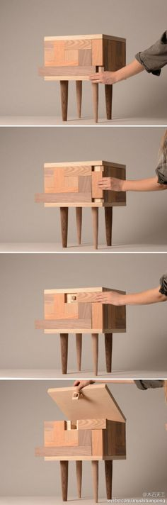 Secret wooden compartments