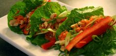 Thai Lettuce Tacos- No oven or stove top required. Build these tacos for your next party or family gathering.