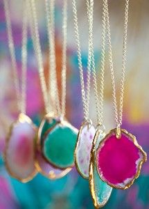 Beautifully Contained: DIY Agate Necklace (for under $10 and 10 min!)