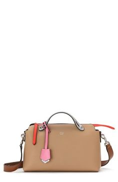 Fendi 'Small By the Way' Colorblock Leather Shoulder Bag