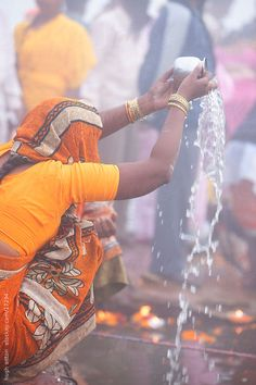 woman in prayer at the River Ganges. India by Hugh Sitton - Stocksy United Water Issues, Indian Architecture, Hindus, Varanasi, Photos Of Women, Incredible India, Prayers, The Incredibles, The Unit