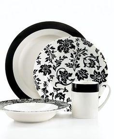 NO - - -Martha Stewart Collection Dinnerware, Geneva Collection - Casual Dinnerware - Dining & Entertaining - Macy's Casual Dinnerware, White Dinnerware, Dinnerware Sets, Kitchenware, Tableware, Serveware, White Damask, Caramel Color, Vintage Pottery