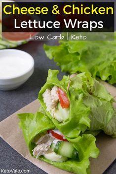 Low Carb Chicken Lettuce Wraps Keto Diet Recipe via @ketovale