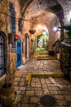 Ancient side street in Jaffa, Israel