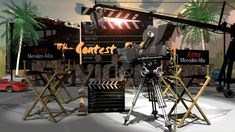 Design by Pablo Bustamante Verdugo]. The Movideo-Mix Tv Show The Actors Contest. Stage Set Design, Scenic Design, 3d Design, Tv Shows, Scenery, Exterior, Actors, Landscape, Stage Design