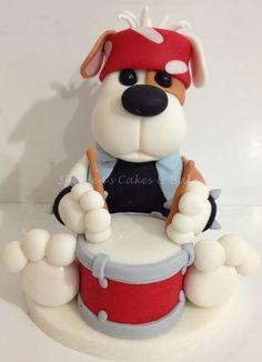 cupcak, babi topper, dog cakes, cake idea, drummer