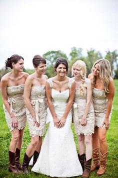 lace bridesmaid dresses Wedding Cowboy Boots c63516fe5e7d