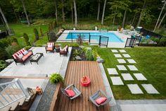 landscaping – Gardening Ideas, Tips & Techniques Patio Plans, Backyard Plan, Backyard Pool Designs, Backyard Retreat, Backyard Patio, Backyard Layout, Cheap Inground Pool, Swimming Pools Backyard, Backyard Landscaping