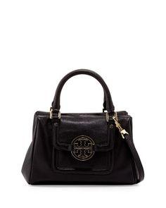 Tory Burch Amanda Slouchy Mini Satchel Bag, Black - Neiman Marcus