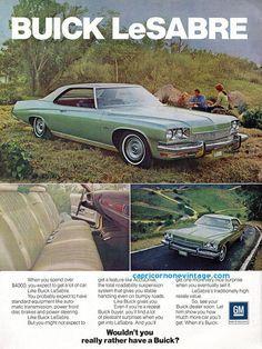 Vintage 1973 Buick LeSabre  Ad