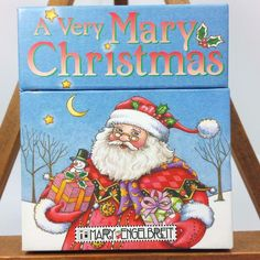 Rare 2004 Mary Engelbreit A Very Mary Christmas Coloring Craft Activity Box Set