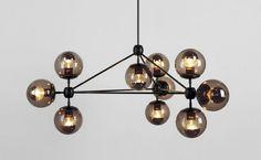 Jason Miller replica, Modo chandelier, 10 lights.