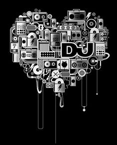 DJ Magazine Artwork and design © BoseCollins / DJ Magazine Illustration and design for a limited edition DJ magazine tee shirt.