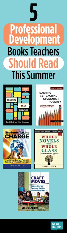 We read often to our students, but don't have time to read for ourselves! Take the time to read these professional development books teachers will love.