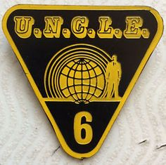 Vintage Man From UNCLE Ideal Triangle Badge 1966 Illya Solo Gun