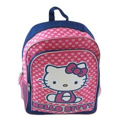 Sanrio Combo - Hello Kitty Large Backpack in Pink Ribbon Theme and Hello Kitty Carryout Purse Set * Continue to the product at the image link.