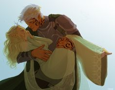 Rowan and Aelin by meabhd. Empire of Storms. Sarah J Maas