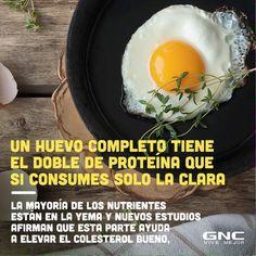 Todo este tiempo hemos estado quitando la parte donde estaban todas las proteína. Incluye la yema en tus tortillas por la mañana. #huevo #healthy #breakfast