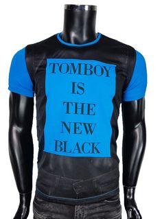 T-Shirt męski z siatką - Niebieski - T-shirty męskie - Awii, Odzież męska, Ubrania męskie, Dla mężczyzn, Sklep internetowy