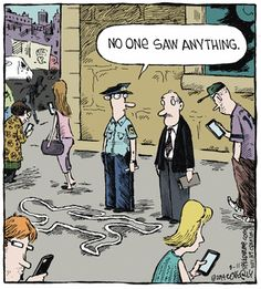 """""""Speed Bump"""" by Dave Coverly ~ Digital Zombies not Witnessing Crime"""