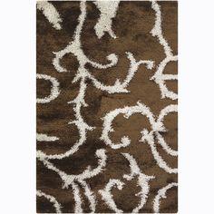 Handwoven /Brown Mandara Shag Rug