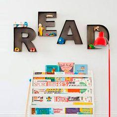 Rincón de lectura para niños. Ideas para que los más peques disfruten de la lectura en un buen ambiente. ¡Descúbrelo en Charhadas! #lectura #decoracion #niños