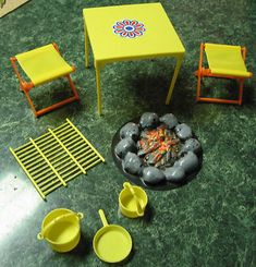 Vintage Barbie Camping Set
