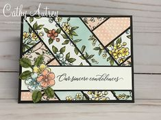 I will admit that I am a bit obsessed with the scrappy strip technique. But see what beautiful cards you can make! Maybe it's becaus. Strip Cards, Patchwork Cards, Bird Cards, Stamping Up Cards, Get Well Cards, Card Sketches, Scrapbook Sketches, Pretty Cards, Sympathy Cards